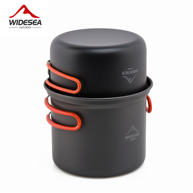 Widesea camping tableware cup bowl outdoor cooking set camping cookware travel tableware pincin set hiking cooking utensils 2