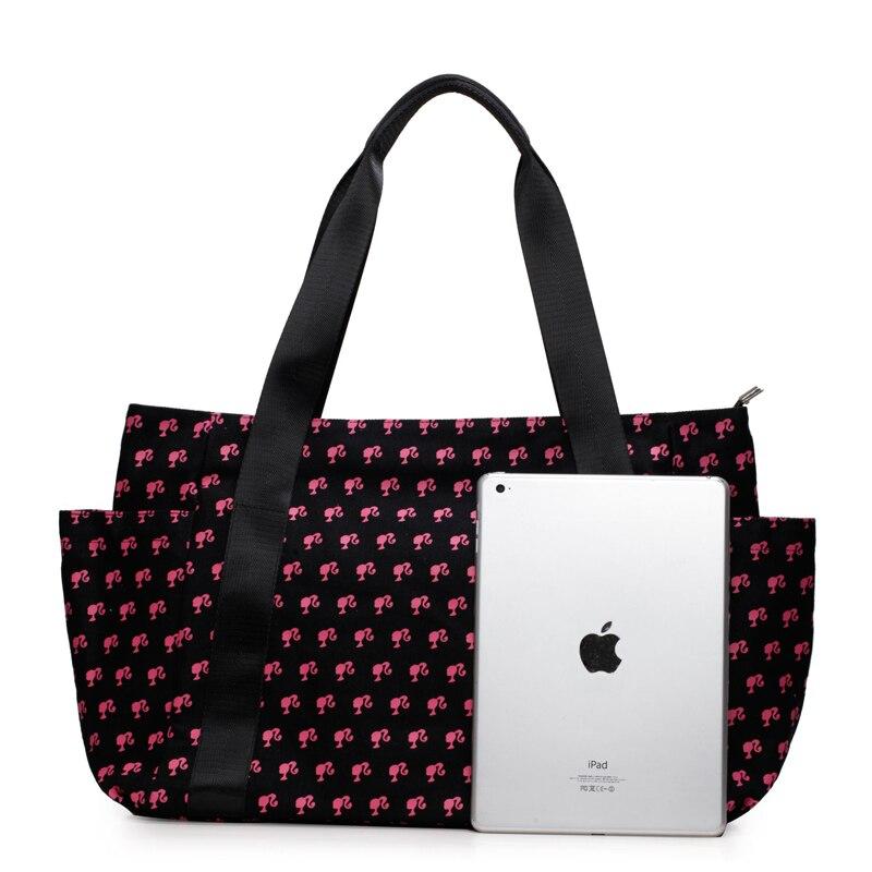 Barbie fashion Women Shoulder Bags big handbags for mama black blue color patchwork women Female Bag Individuality