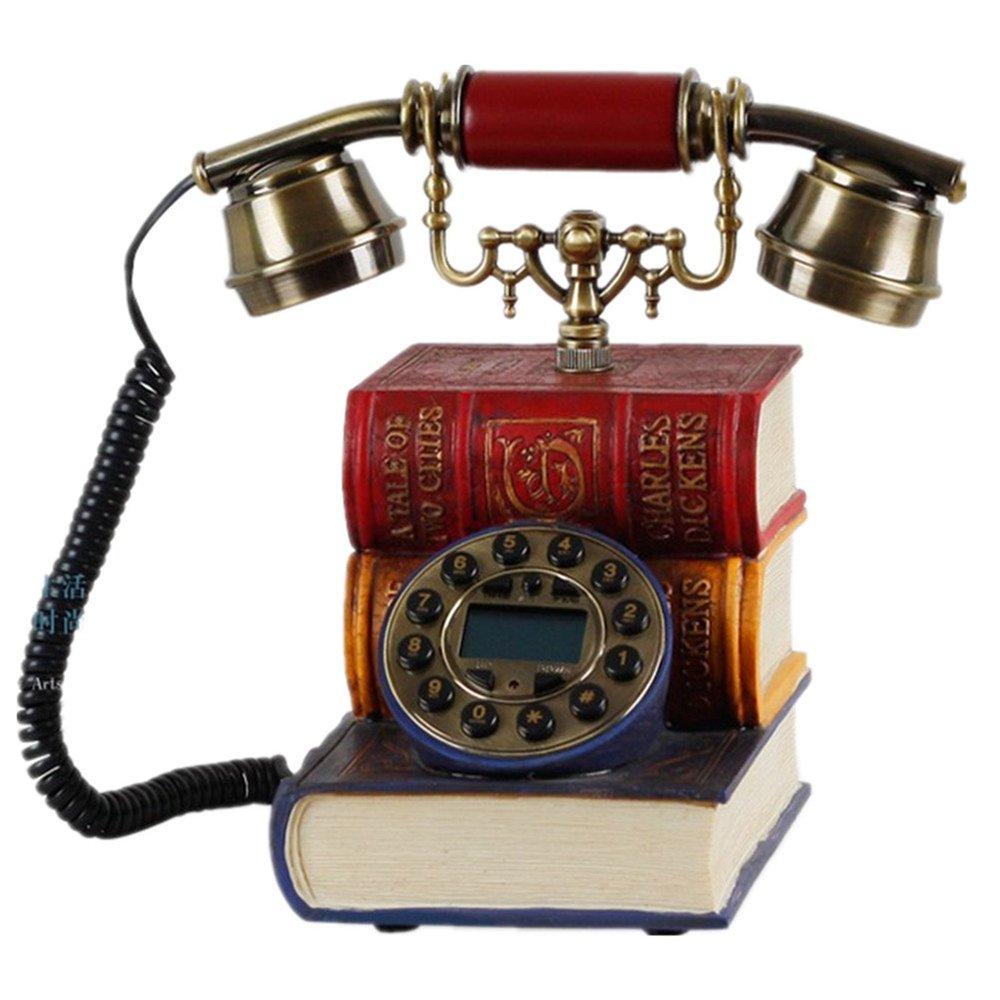 Novelty Vintage European Style Book Shape Antique Telephone