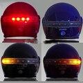 Itimo 8 led 2.4g inalámbrico universal moto casco luz de advertencia de freno y la luz de intermitencia lámpara de accesorios de motos