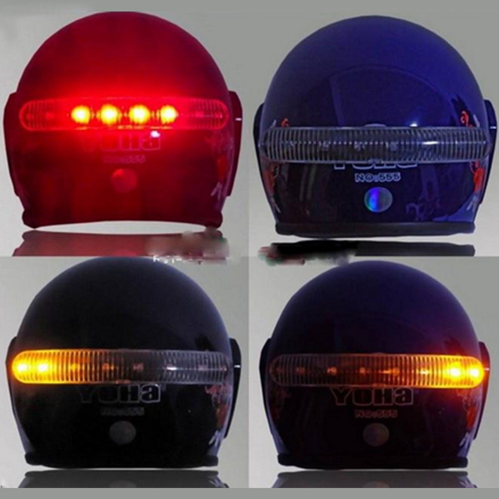 LEEPEE  8 LED 2.4G Wireless Universal Moto Brake And Turn Signal Light Warning Light Helmet Lamp Motorcycle Accessories