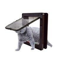 Kat Deur 4 Way Locking Kat Flap Deur Voor Interieur Exterieur Deuren Weerbestendige Huisdier Deuren Voor Katten Honden-in Huizen  Kennels & Hokken van Huis & Tuin op