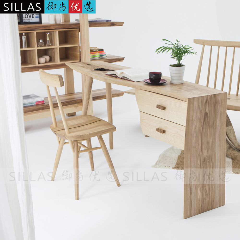 George Nakashima Solid Wood Desk Simple