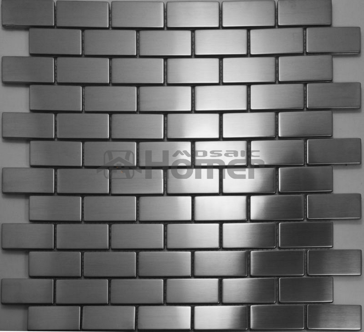 Silver Drawbench Stainless Steel Mosaic Tiles Brick Wall Backsplash 12x12 Hme8019 Kitchen Home Decor In Stickers From Garden On
