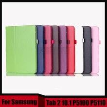 3 en 1 alta calidad slim stand cubierta de cuero de la pu case para samsung galaxy tab 2 10.1 p5100 p5110 + stylus + screen film