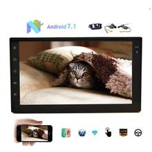 Wireless cameras included Android 7.1 headunit dual 2DIN car audio GPS navigation, no DVD player support WIFI OBD2 touch screen