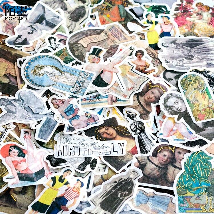 60pcs/pack Retro Image Sticker Set Rococo's Covenant Era Girls Washi Paper Sticker Decoration Diy Ablum Diary Label Sticker цена 2017