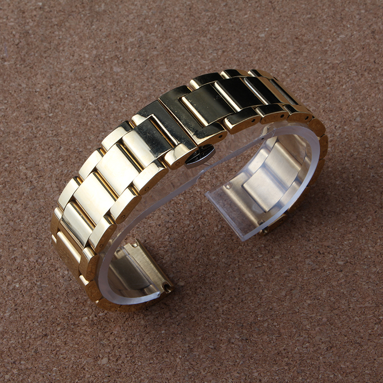 New Arrival Silver and black colorful Watchband Stainless Steel Metal Watches band bracelets Men Bracelets 18MM