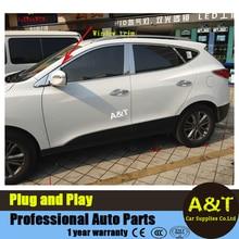 A&T car stying For Hyundai IX35 full window stainless steel decorative strip For 2013-2015 IX35 High quality Window trim 24 pcs