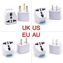 Convertidor de adaptador de Cargador eléctrico de viaje, enchufe de toma de corriente Universal de Reino Unido, EE. UU., AU a la UE, Japón, China y América, 1 unidad
