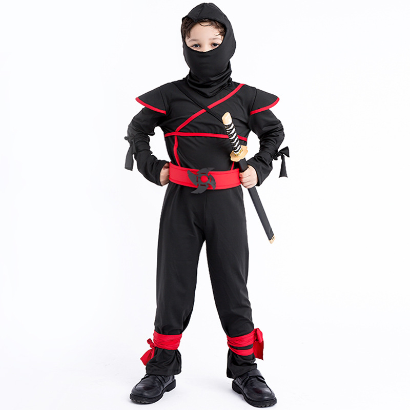 Anime Naruto Cosplay costume  Fancy ninja Jumpsuit  for Children Carnival or Halloween Kids Boys Cosplay Party Decorations D45