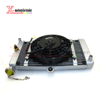 New 150cc 200cc 250cc Water cooling engine cooler Radiator cooling & 12v FAN FOR moto Quad 4x4 ATV UTV parts