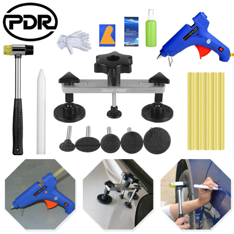 PDR Car Dent Repair Kit Paintless Hail Dent Puller Remover Removing Dents Car Body Work Repair Hand Tool Sets     - title=