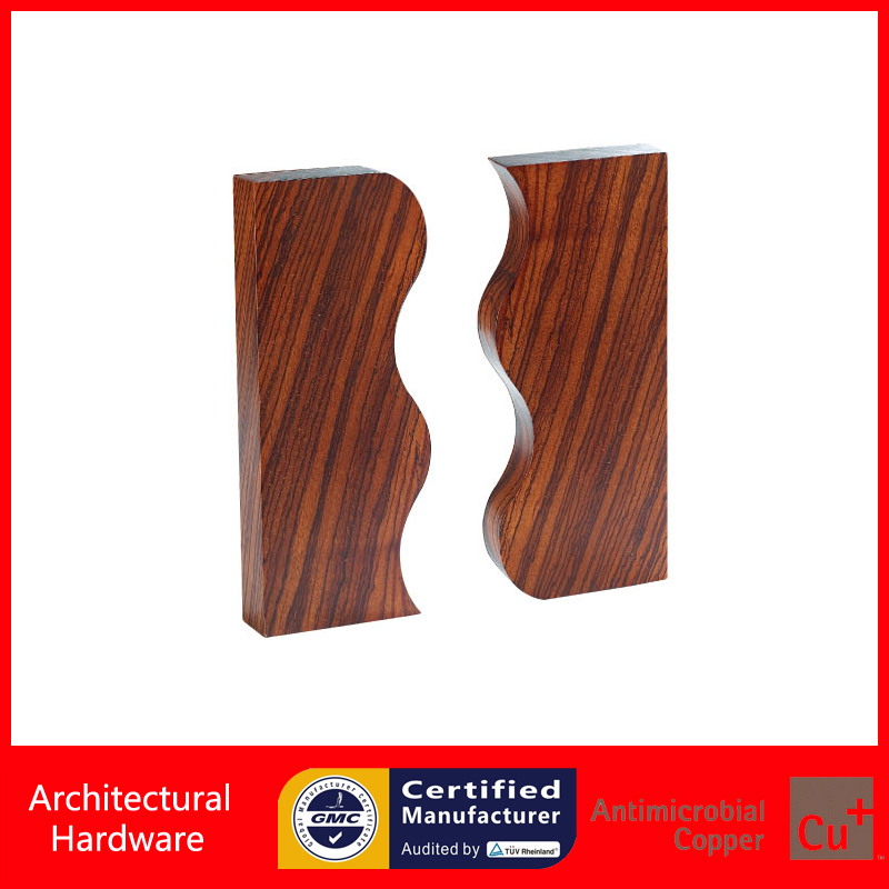 Solid Zebra Wood Entrance Door Pull Handle For Sauna Room Wooden/Glass/Metal Doors PA-247-L285 Manufacturer bobo bird brand new sun glasses men square wood oversized zebra wood sunglasses women with wooden box oculos 2017