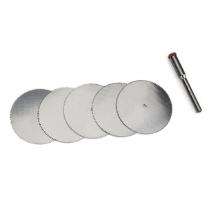 5Pcs/set 32mm Stainless Steel Slice Metal Cutting Disc with 1 Mandrel Saw Blade Cutter for Dremel Rotary Tools