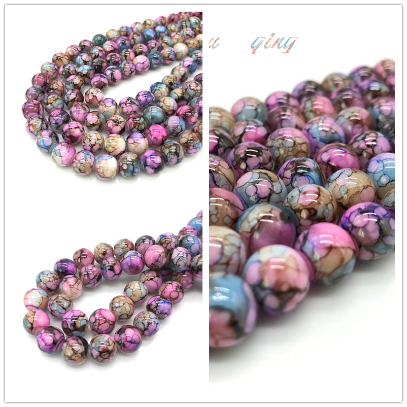 Wholesale 6/8 /10mm beads round beads for DIY production, bracelet necklace accessories