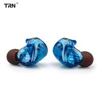 TRN IM1 1BA+1DD Hybrid In Ear Earphone Monito Running Sport Earphone HIFI Headset Detachable Detach 2Pin Cable Custom Earphone