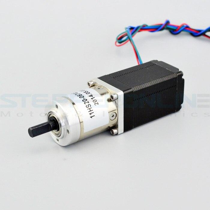 Nema 11 planetary geared stepper motor gear ratio 19 1 for Nema 11 stepper motor
