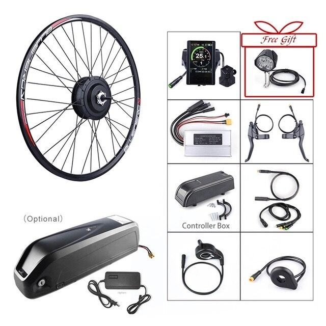 Bafang 48 V 500 W vélo électrique engrenage sans brosse moyeu moteur arrière roue Kit de Conversion 48 V 12Ah e vélo batterie construit Samsung Cell