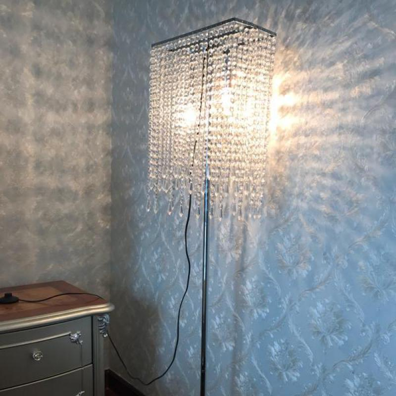 High clear K9 Crystal floor light for Showcase living room luxury led floor lamp commercial lighting lampada reading stand lamp free shipping modern luxury top k9 crystal floor lamp decorative floor lamp living room lamp 7 heads floor stand light fixture