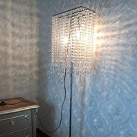 High clear K9 Crystal floor light for Showcase living room luxury led floor lamp commercial lighting lampada reading stand lamp