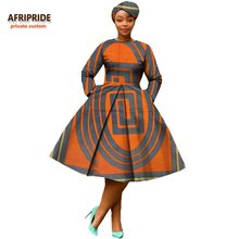 african clothing 2018 autumn women dress AFRIPRIDE full sleeve calf-length  ball grown women casual 54325e149999