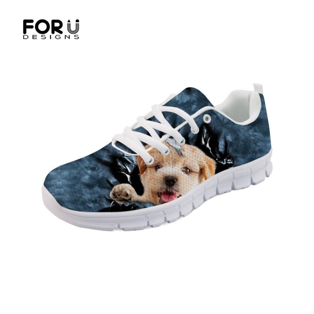 Chien Espadrilles c0476aq Custom Confortables Chaussures Style c0476baq Appartements Forudesigns Denim 3d Chiot Animal Printemps Motif Femmes Maille Mignon Aq Jeans De Casual ZqnnBUwRvC