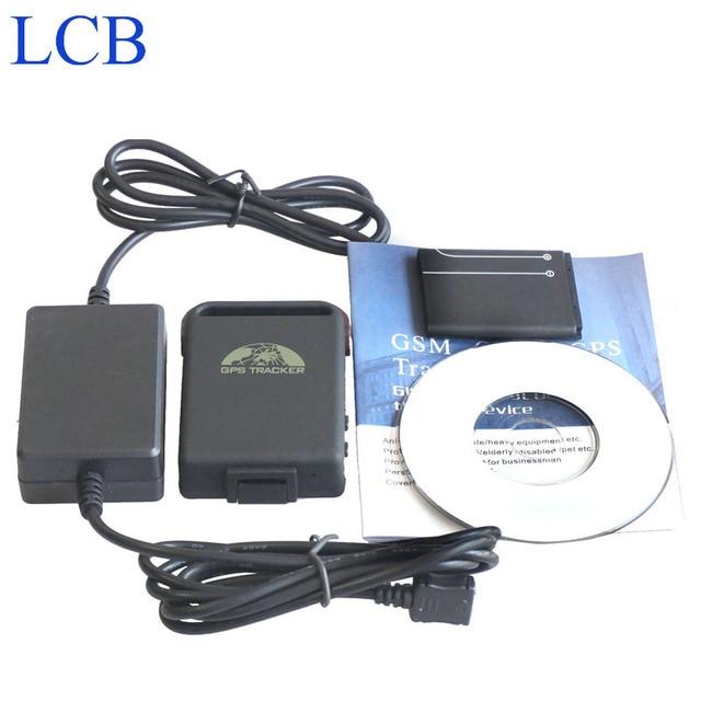 Marca Coban GPS tracker TK102B 4 banda gps tracker com 2 fios suporte carregador de bateria de Carro google ligação frete grátis