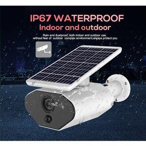 Image 2 - 2.0MP שמש מופעל IP מצלמה 1080P חיצוני עמיד למים אבטחת CCTV WiFi מצלמה עם נטענת סוללה וידאו מעקב