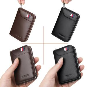 Image 4 - WilliamPOLO 2019 Mens Wallet Accordion Credit Card Holder Genuine Leather Multi Card Case Organizer Coin Purse Short Zip Around