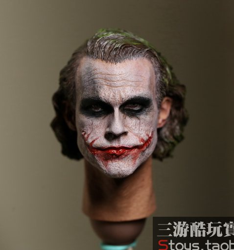 1/6 scale figure doll head shape for 12 action figure doll accessories Batman Joker Heath Ledger Head carved 1 6 scale comedy king of france la grande vadrouille with 2 head figure doll model 12 action figure doll collectible figure
