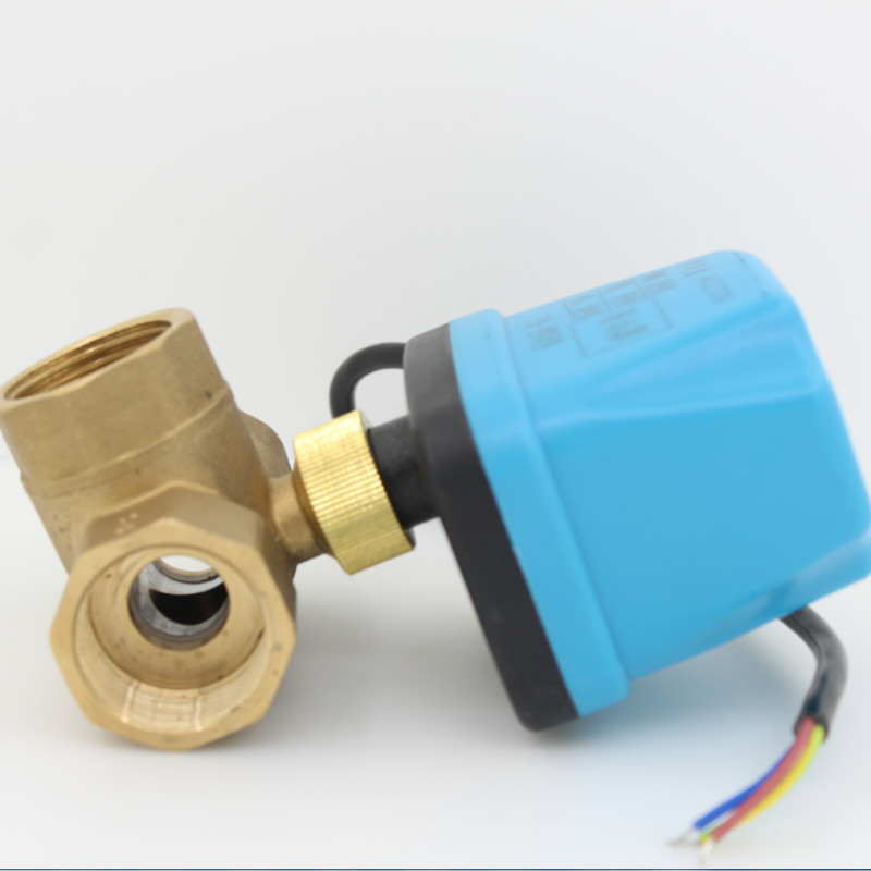 DC5V 3 way Electric Ball Valve Motorized Ball Valver ball valve with electric actuator DN15 DN20 DN25 DN32 DN40 shipping free dc5v 1 stainless steel electric ball valve dn25 electric motorized ball valve 2 wires cr01 wiring