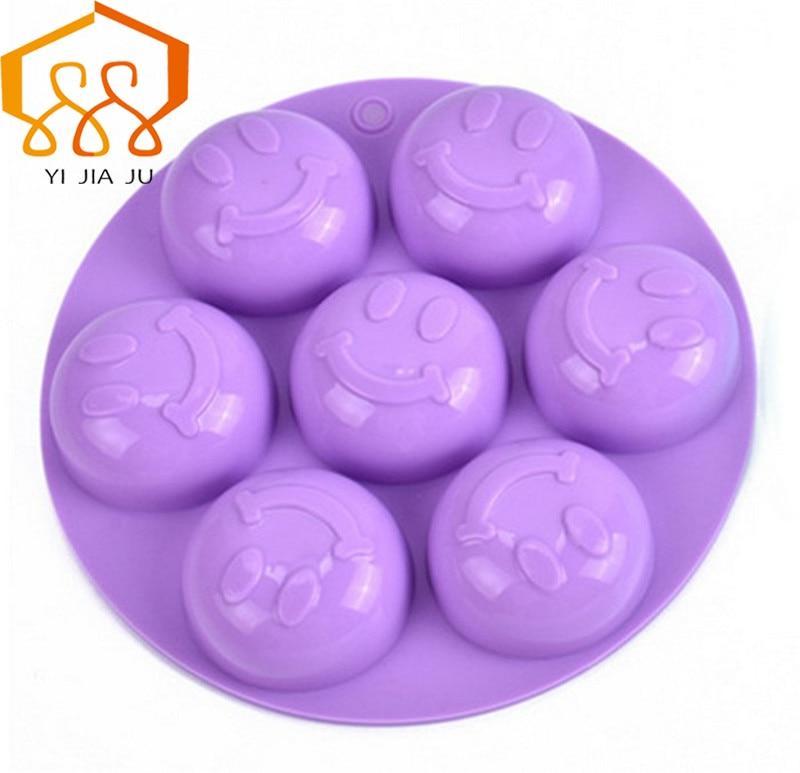 כלי אפייה עוגת סיליקון עובש פודינג עבודת יד סבון עובש חיוך פנים גלידה תבנית שוקולד