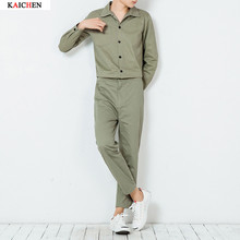 2016 New Men's clothing male fashion casual jumpsuit bodysuit slim trend lovers male ankle length trousers Singer costumes