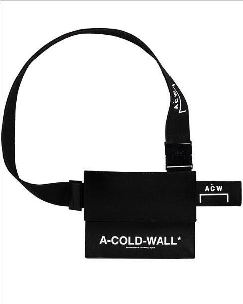 2019 Fashion Stylist ACW A-Cold Wall BLACK CANVAS UTILITY Women/men's Canvas Inclined Shoulder Bag Casual Single Shoulder Bag