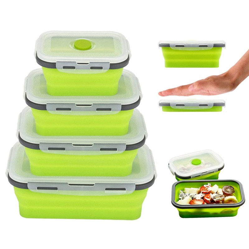 A Kitchen Is Launching An Express Lunch Service: Urijk Kitchen Food Bowl Silicone Folding Bento Box Food