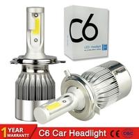 2Pcs H4 LED H7 H11 H1 9004 9005 9006 9007 HB1 HB2 HB3 HB4 HB5 H3 H13 880 Car Headlight Bulbs 72W 7600LM 6000K Auto lamp