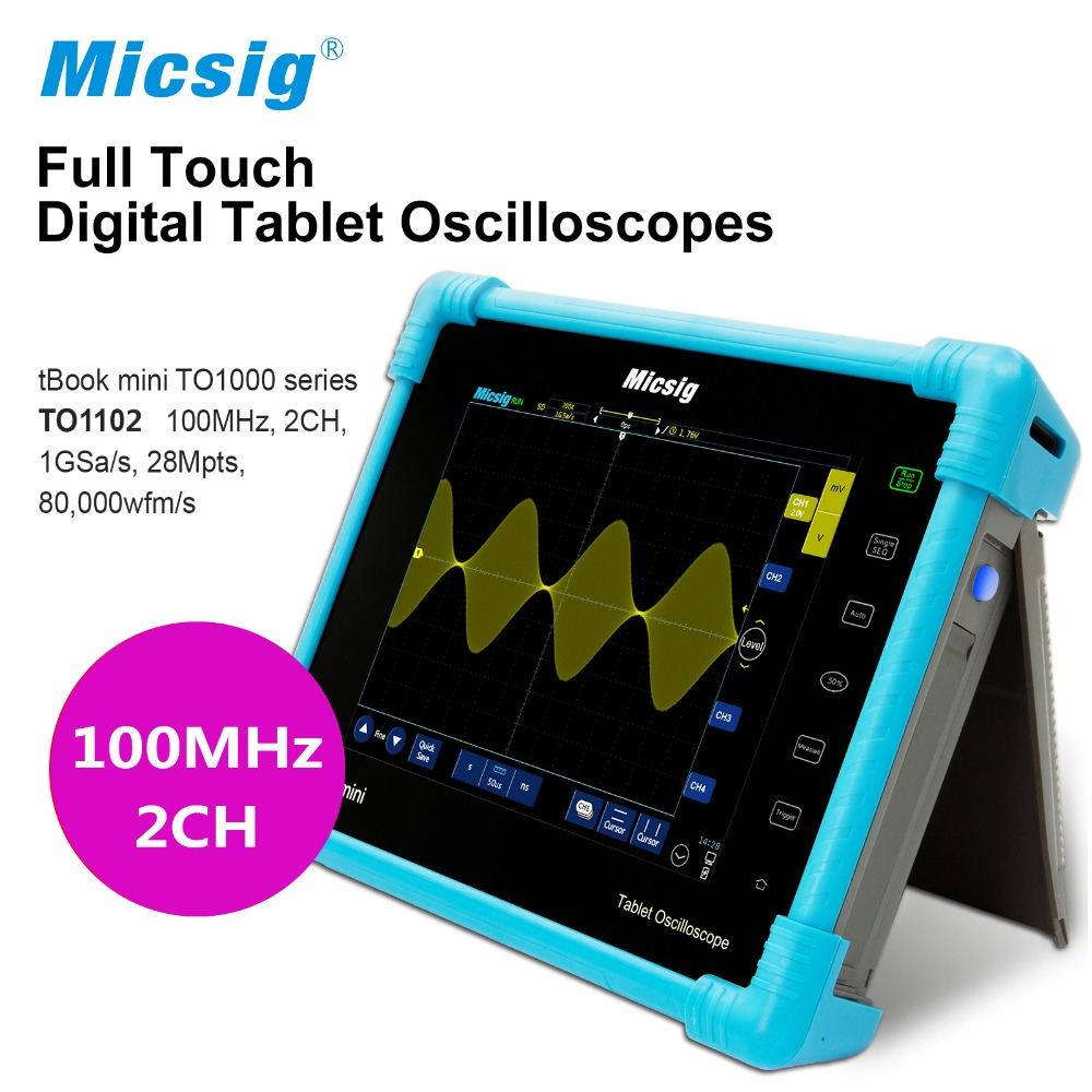 Digital Tablet touchscreen Oscilloscope TO1102 100MHz 2CH 1G Sa/s 28Mpts Automotive diagnostic oscilloscope portable цены