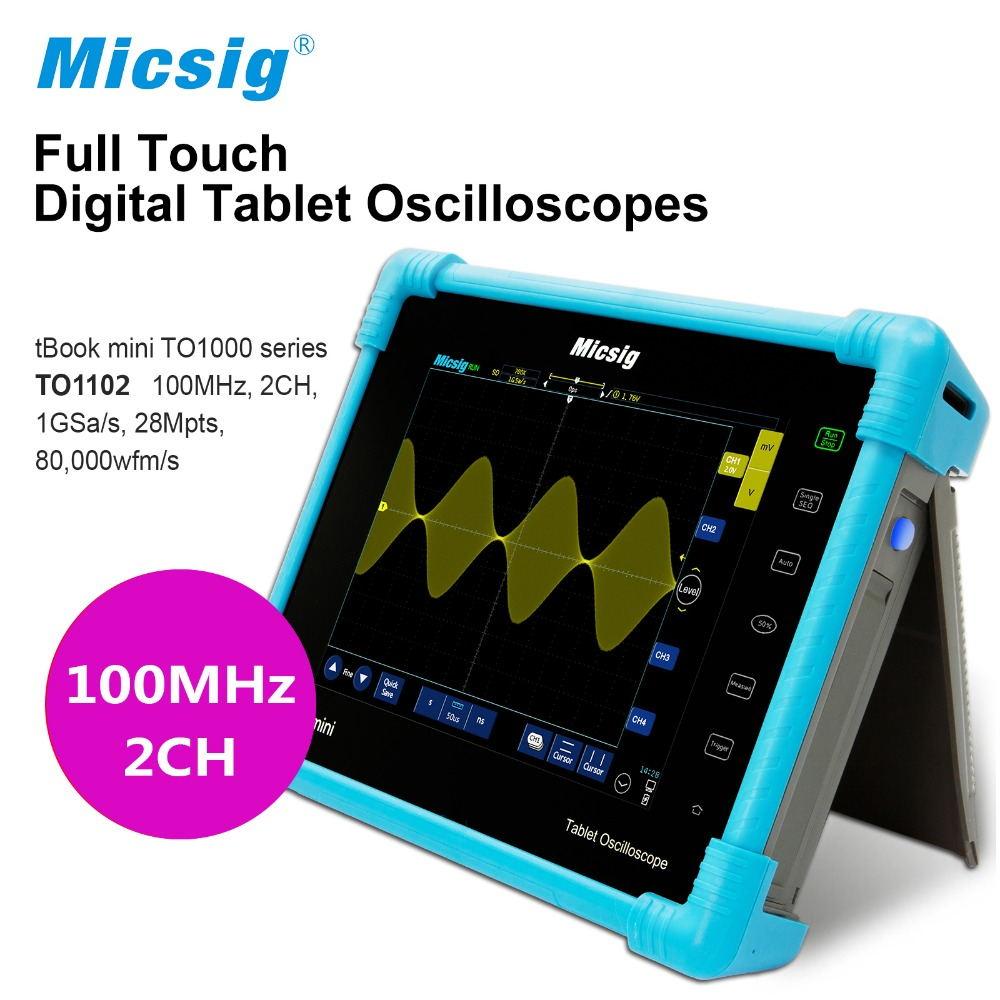 все цены на Digital Tablet touchscreen Oscilloscope TO1102 100MHz 2CH 1G Sa/s 28Mpts Automotive diagnostic oscilloscope portable онлайн