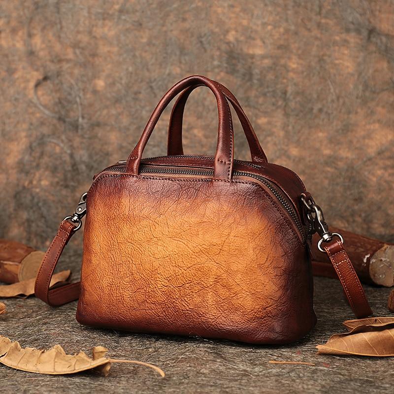 Jesień ostatnie Messenger torby torebka dla kobiet na ramię torebka 2019 Handmade naturalne skórzana poduszka torebki kobiet w Torebki na ramię od Bagaże i torby na  Grupa 1