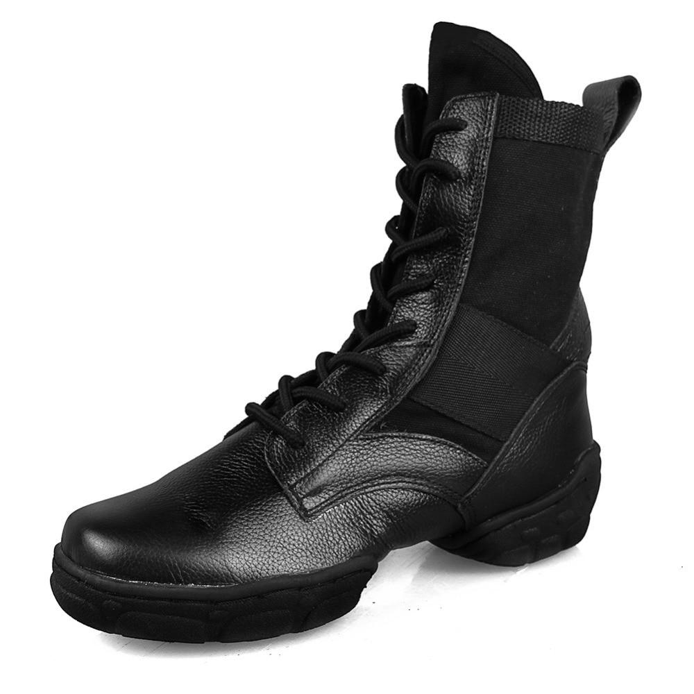Baskets De danse en cuir noir haut Zapatos De danse Zapatilla De Deporte chaussures De danse femmes chaussures De Jazz