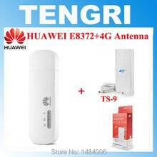 Разблокированный huawei E8372+ 4G антенна двойной TS9 Разъем 150 Мбит/с 4 г LTE USB модем мобильный WiFi ключ E8372h-608 E8372h-153