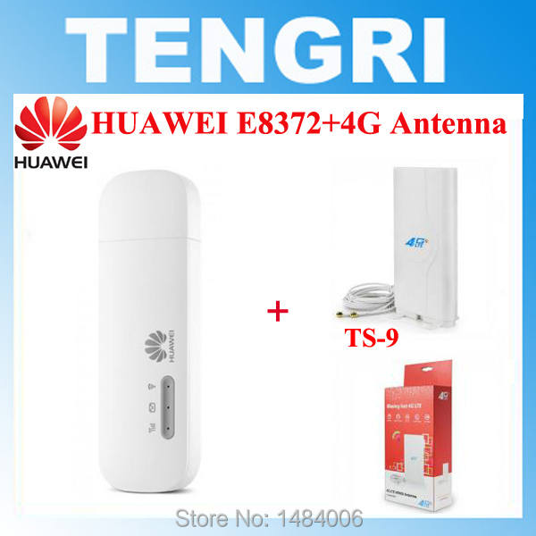 US $50 34 5% OFF|Original Unlocked Huawei E8372 + 4G antenna dual TS9  connector 150Mbps 4G LTE USB modem Mobile WiFi dongle E8372h 608 E8372h  153-in
