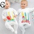 Мода Новорожденных clothesBaby комбинезон мальчик Ползунки фирменные новорожденных детской одежды комбинезон с длинным Рукавом Baby boy Одежда рождество