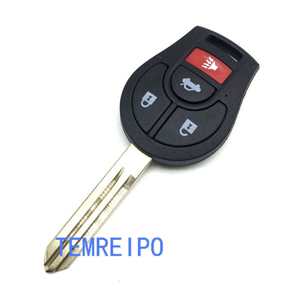 20pcs/lot key cover for nissan tiida march sylphy car remote key cover 3+1 Button fob selling