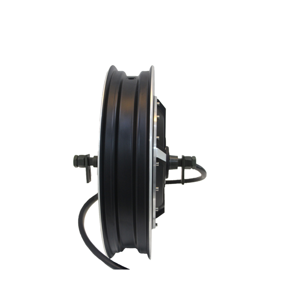 High power 17inch <font><b>qs</b></font> <font><b>motor</b></font> <font><b>4000w</b></font> 40H V2 Electric Motorcycle Hub <font><b>Motor</b></font> image