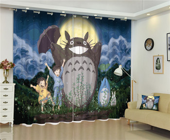 2017 Cartoon Blackout Window Drapes Luxury 3D Curtains For Living room Bed room Office Hotel Home Wall Tapestry