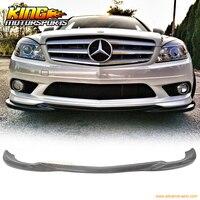Для 08 11 Mercedes Benz C Class W204 Sedan AMG Углеродного Волокна Переднего Бампера Для Губ CF