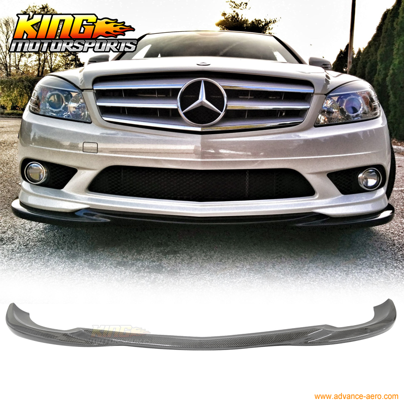 For 08-11 Mercedes Benz C Class W204 Sedan AMG Carbon Fiber Front Bumper Lip CF high quality fashion and durable for benz c class w204 models car mirror covers carbon fiber refit