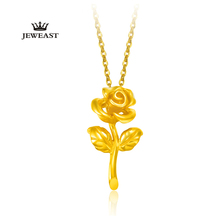 Woman Fine Jewelry 24K Gold Flower Chain Pendants Necklace Luxury Wedding Engagement Festival Gifts Elegant Lady Gold Choker Nec